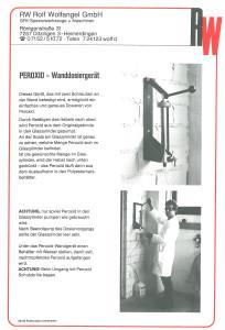 Wanddosiergeräte 1982